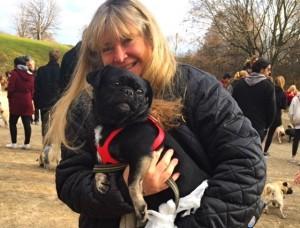 Susie and Kilo the Pug