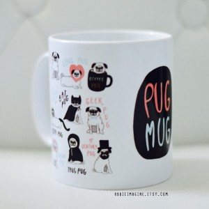 Pug Mug by AbbieImagine