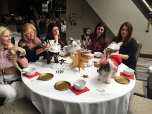 at the table at woofstock high tea
